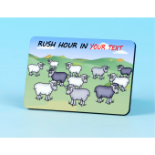 6130 Fridge Magnet-RUSH HOUR IN YOUR TOWN
